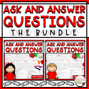 BUNDLE-Fiction AND Informational Passages/Questions CCSS RI.1.1 and RL.1.1