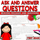 Ask and Answer Questions Fiction Passages and Assessment CCSS RL1.1