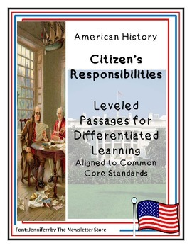 Reading Passages for Differentiated Learning: Citizens' Responsibilities