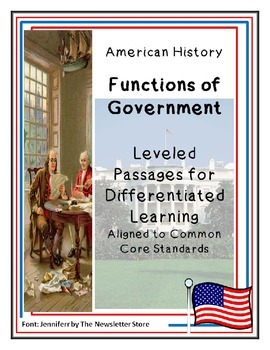 Reading Passages for Differentiated Learning: Functions of Government