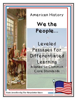 Reading Passages for Differentiated Learning: We the People