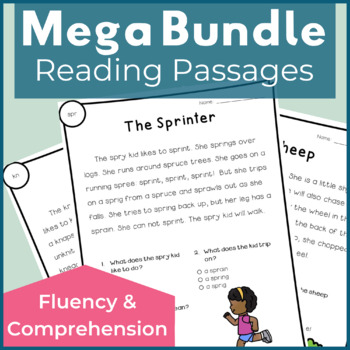 Reading Passages for Fluency and Comprehension - Mega Bundle