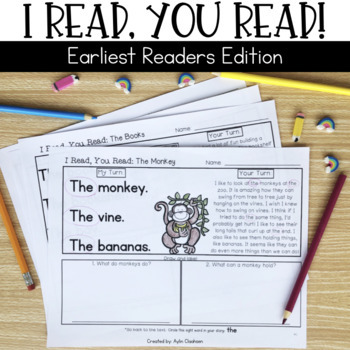 Reading Passages for Home or School: Earliest Readers Edition {Pre-A}