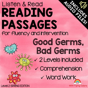 Reading Passages for Intervention with Comprehension and Audio (Germs)