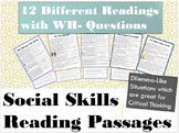 Reading Passages for Social Skills Practice & Dilemma Like Situations
