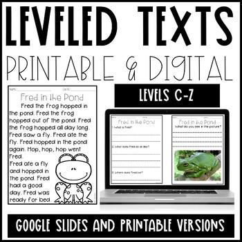 Leveled Text Growing Bundle