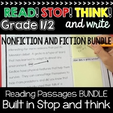 Reading Passages 1st Grade 2nd Grade with Built in Stop and Think