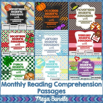 Year Long Reading Comprehension Passages