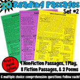 Reading Passages with Multiple Choice Comprehension Questions: Set 2