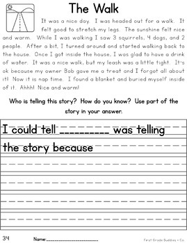 Reading Passages with Written Response Requiring Text Based Evidence