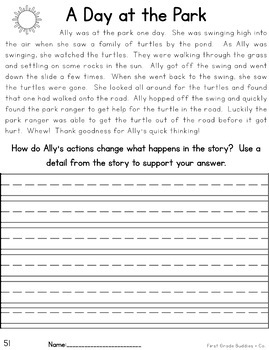 Reading Comprehension Passages and Questions | Text Evidence