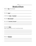 Reading Passge Analyzation Worksheet