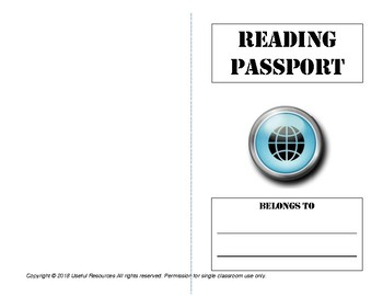 Reading Passport Book Report