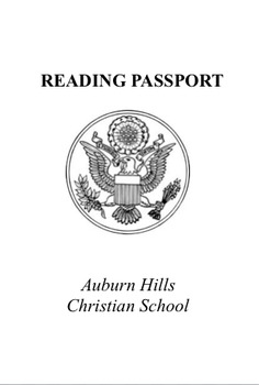 Reading Passport- Editable- Pages & Word Versions