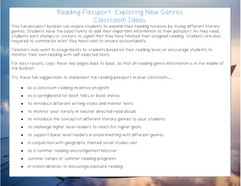 Reading Passport: Exploring Literary Genres