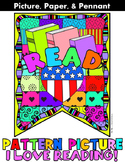 "Reading Banner: ""Pattern Picture"": perfect for Read Across America Week"