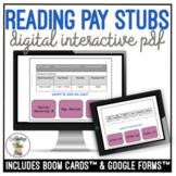 Reading Pay Stubs Digital Interactive Activity