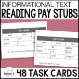 Reading Pay Stubs - Life Skills Task Cards