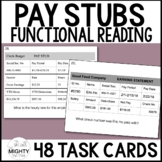 Pay Stub Calculations - Life Skills Task Cards