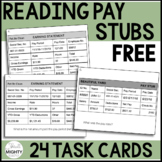 Reading Pay Stubs Task Cards (more advanced) FREEBIE :)