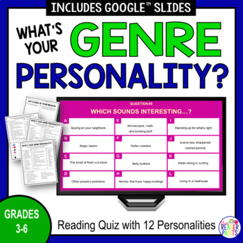 Reading Personality Test | What's Your Genre? (elementary version)