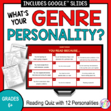 Reading Personality Test | What's Your Genre? (secondary version)