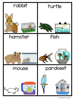 """Reading """"Pets"""" (Matching Cards Game)"""
