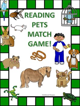 Reading Pets Game