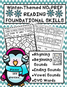 Reading/Phonics Skills-Beginning, Medial & Ending Sounds, Rhyming + CVC Words