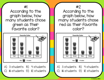 Reading Pictographs Task Cards