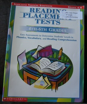 Reading Placement Tests 4-6 Grades Assessments