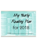Reading Plan for 2018 - Teacher, Parent, or Student Resource