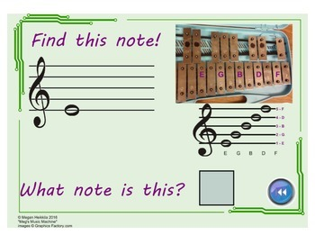 LINE NOTES - Reading & Playing Treble Clef - Piano or Mallets - Elementary Music