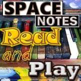 SPACE NOTES - Reading & Playing Treble Clef - Piano/Mallets - Elementary Music