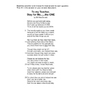 Reading Poem Stay for Me by Bill MacDonald