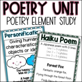 Reading Poetry Elements Unit | Writing Poems | Figurative Language Anchor Charts