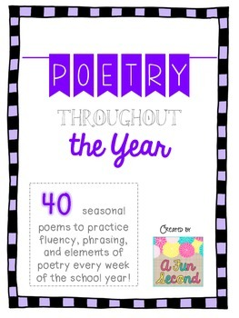 Reading Poetry Month by Month, Back-to-School Printables