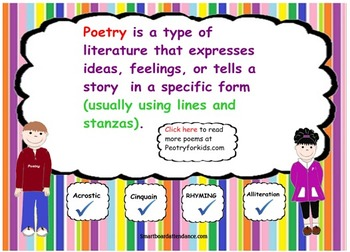 Reading Poetry Smartboard Lesson and Activity