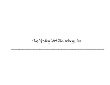 Reading Portfolio Printables