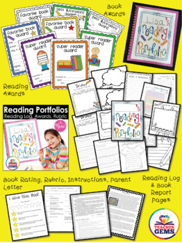 Reading Portfolios: Reading Log, Book Report, Awards and More!
