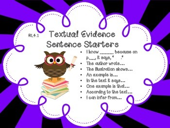 4th Grade Reading Anchor Chart Owl Themed