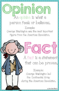 Reading Anchor Chart: Fact and Opinion
