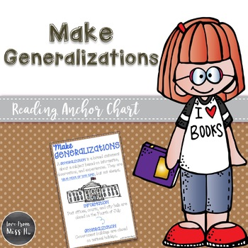 Reading Anchor Chart: Make Generalizations