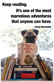 Reading Poster | Motivational | Pug