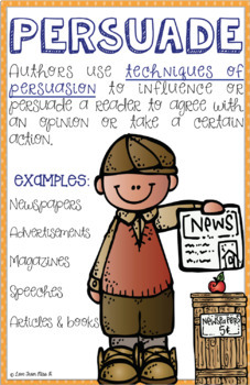 Reading Anchor Chart: Persuasion