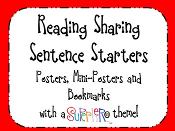 Reading - Poster Prompts for Sharing Thinking