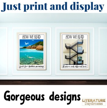 Reading Posters - 5 images to show reading between the lines