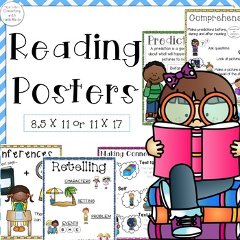 Reading Posters 8.5 by 11 and 11 by 17