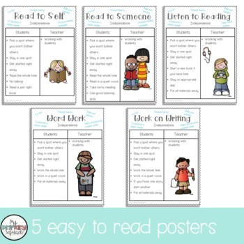 """Reading Posters- Anchor Charts- Reading """"Centers"""""""