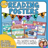 Reading Posters Bundle - Mini Anchor Charts for Word Walls